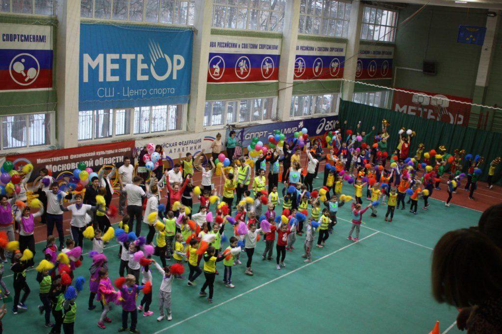 Весёлые старты для малышей прошли в центре спорта «Метеор»
