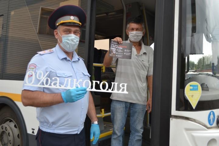 Сотрудники Госавтоинспекции посетили автотранспортные предприятия в рамках социального раунда «Трезвый водитель»